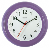 Acctim Wycombe Clock - Purple